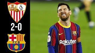 ???? Севилья - Барселона 2-0 - Обзор Матча Полуфинал Кубок Испании 10/02/2021 HD ????
