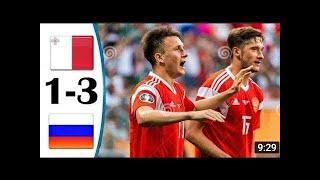 Мальта Россия обзор матча HD. Отбор чм 2022