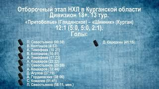 Сезон 2019/2020. Видеообзор матчей 13-го тура в дивизионе 18+