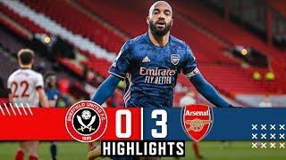 Sheffield United 0-3 Arsenal   EPL Premier League Highlights   Lacazette goals down Blades