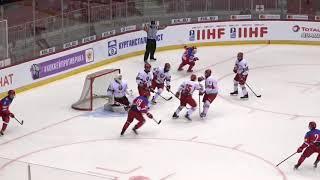 Выставочный матч. Россия U18 - Белоруссия U18 - 3:0. Видеообзор