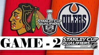 Chicago Blackhawks vs Edmonton Oilers | Aug.03, 2020 | Best of 5 | Game 2 | NHL 2019/20 | Обзор