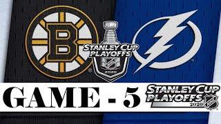 Бостон Брюинз - Тампа-Бэй Лайтнинг | Second round | Game 5 | Stanley Cup 2020 | Обзор матча