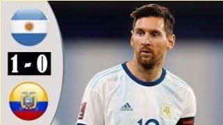Аргентина Эквадор 1-0 Обзор Матча Футбол 2020 г.