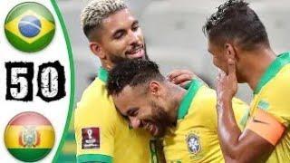 Бразилия - Боливия 5: 0 Обзор Матча Футбол 10.10.2020