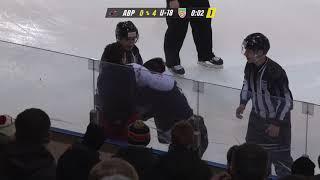 Хоккеисты «Авиатора» избивают игроков «юниорки»