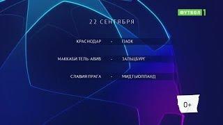 Лига чемпионов. Обзор матчей 22.09.2020