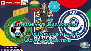 Lithuania vs Kazakhstan | 2020-21 UEFA Nations League | Group C4 Predictions eFootball PES2020