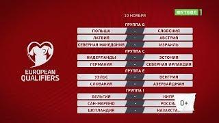 Чемпионат Европы 2020. Отборочный турнир. Обзор матчей 19.11.2019