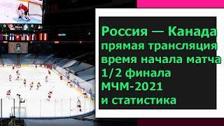Россия — Канада: прямая трансляция, время начала матча 1/2 финала МЧМ-2021 и статистика