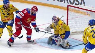 Россия обыграла Швецию в стартовом матче Кубка Первого канала со счетом 4:3.