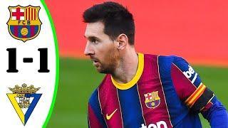 ???? Барселона - Кадис 1-1 - Обзор Матча Чемпионата Испании 21/02/2021 HD ????