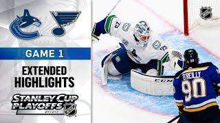 Vancouver Canucks vs St. Louis Blues R1, Gm1 Aug 12, 2020 HIGHLIGHTS