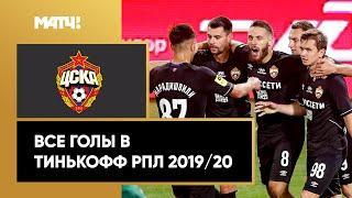 Все голы ЦСКА в Тинькофф РПЛ сезона 2019/20