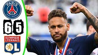 ПСЖ 0-0 Лион (пен 6-5) - Обзор Матча Кубка Французской Лиги l PSG vs Lyon Highlights  31.07.2020 HD