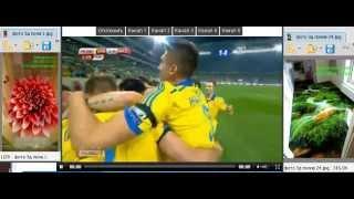 Украина - Македония 1:0 Первый гол Сидорчук Видео обзор футбол 2014