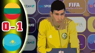 Литва-Казахстан (0-1) - 1 тайм ⚽ Стрим футбол Лига Наций 04.09.2020
