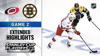 Carolina Hurricanes vs Boston Bruins R1, Gm2 Aug 13, 2020 HIGHLIGHTS HD