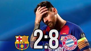 Бавария УНИЗИЛА Барселону!!! Где был Месси? Барселона - Бавария 2:8