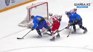 Видеообзор матча Сборная Казахстана - Автомобилист 2:0
