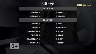 Тинькофф Российская премьер-лига. Обзор 5-го тура