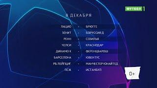 Лига чемпионов. Обзор матчей 08.12.2020