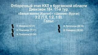 Сезон 2019/2020. Видеообзор матчей 11-го тура в дивизионе 18+