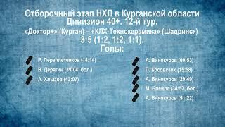 Сезон 2019/2020. Видеообзор матчей 12-го тура в дивизионе 40+