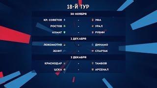 Российская премьер-лига. Обзор 18-го тура