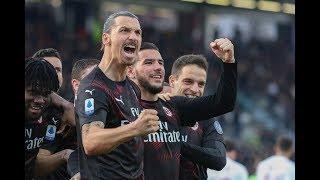 Футбол. Обзор матча.  Калгари vs Милан 0-2. Гол Ибрагимовича