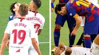 Месси УСТРОИЛ ДРАКУ, но даже не получил желтую. Что ТВОРИЛОСЬ в матче Севилья - Барселона?