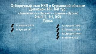 Сезон 2019/2020. Видеообзор матчей 8-го тура в дивизионе 18+