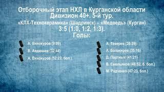 Сезон 2019/2020 гг. Видеообзор матчей 5-го тура в дивизионе 40+