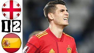 Грузия Испания обзор матча HD. Отбор ЧМ 2022 28.03.2021