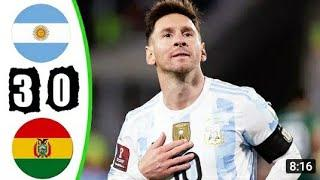 Аргентина - Боливия 3-0 Обзор Матча  Чемпионат Мира 2022 10.09.2021