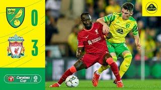 CARABAO CUP HIGHLIGHTS | Norwich City 0-3 Liverpool