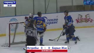 МХК Yastreby - МХК Barys-Jas (8.01.2021 г.)