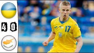 Украина - Кипр 4-0 Обзор матча | Товарищеский матч - 2021