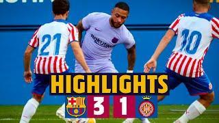 HIGHLIGHTS | Barça 3-1 Girona (MEMPHIS' DEBUT FOR BARÇA!) ????