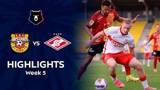 Highlights Arsenal vs Spartak (1-1)   RPL 2021/22