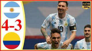 Argentina vs Colombia 4−3 - Extended Highlights & All Goals 2021 HD