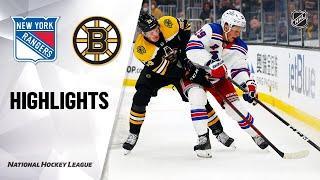 Rangers @ Bruins 10/2/21   NHL Highlights