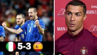 Италия 1-1 (4-2) Испания | Реакция Роналду на выход Италии в Финал Чемпионата Европы