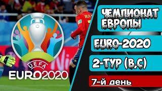 Чемпионат Европы по Футболу. EURO-2020. Обзор 2-го тура (B C).