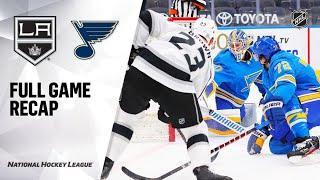 Los Angeles Kings vs St. Louis Blues | Jan.24, 2021 | Game Highlights | NHL 2021 | Обзор матча