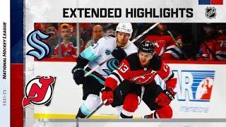 Seattle Kraken vs New Jersey Devils | Oct.19, 2021 | Game Highlights | NHL 2022 | Обзор матча