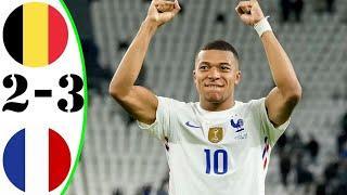 Бельгия vs Франция 2:3 Обзор Матча | Опасные Моменты и Голы 2021 HD Лига Наций Полуфинал