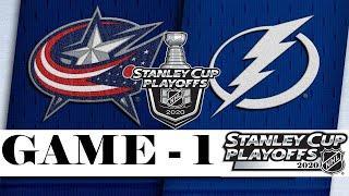 Коламбус Блю Джекетс - Тампа-Бэй Лайтнинг | Stanley Cup 2020 | Game 1 | Aug.11, 2020 | Обзор матча