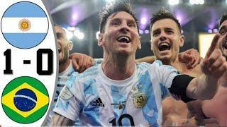Аргентина - Бразилия 1-0 Обзор Матча Копа Америка Финал 11.07.2021