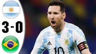 Argentiina vs BraziI 3−0 - Extеndеd Hіghlіghts & All Gоals 2021 HD